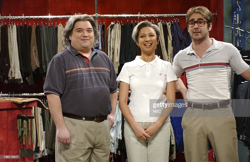 LIVE Episode 7 Aired Pictured Horatio Sanz as Pat Sylviac Maya Rudolph as Patti Sylviac Colin Farrell as Zack Cackinstackis during 'Pat 'N Patti's...
