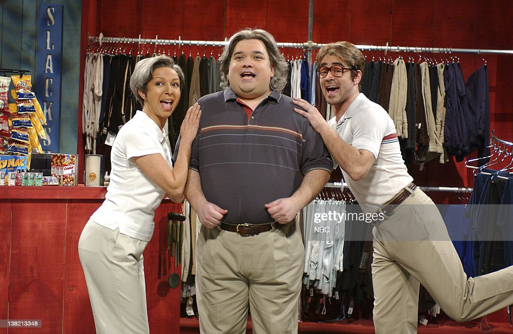 LIVE Episode 7 Aired Pictured Maya Rudolph as Patti Sylviac Horatio Sanz as Pat Sylviac Colin Farrell as Zack Cackinstackis during 'Pat 'N Patti's...