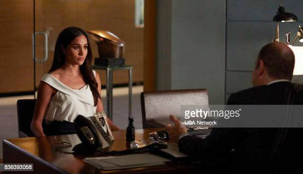 SUITS '100' Episode 708 Pictured Meghan Markle as Rachel Zane