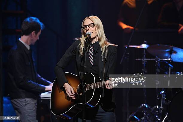 Musical guest Aimee Mann performs on October 23 2012