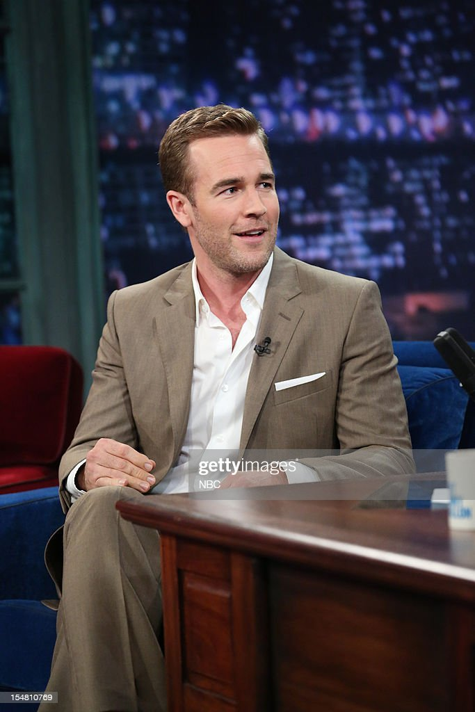 <a gi-track='captionPersonalityLinkClicked' href=/galleries/search?phrase=James+Van+Der+Beek&family=editorial&specificpeople=539017 ng-click='$event.stopPropagation()'>James Van Der Beek</a> during an interview on October 26, 2012 --