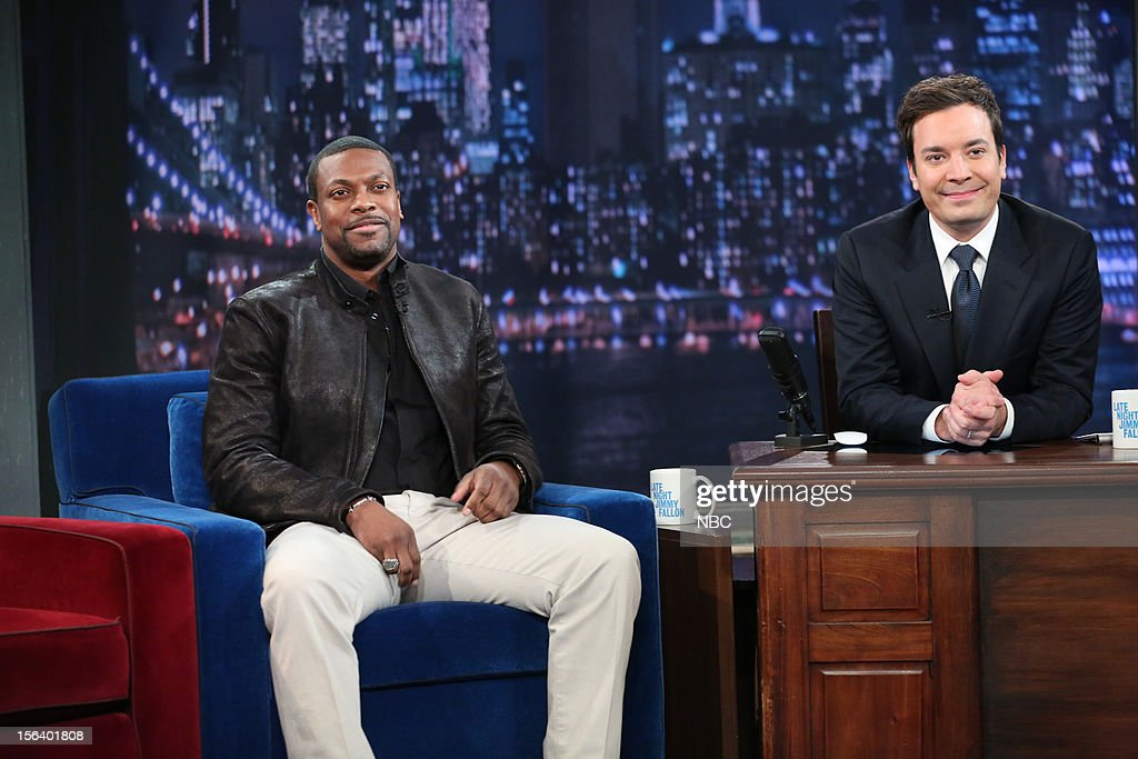 Chris Tucker during an interview with host Jimmy Fallon on November 14, 2012 --