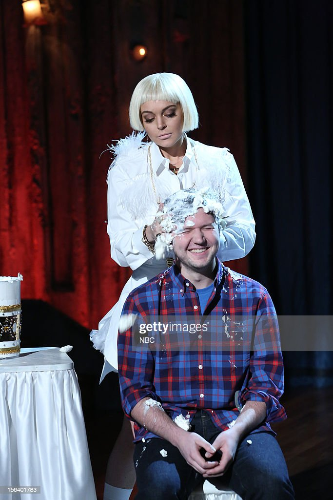 Lindsay Lohan during a skit on November 14, 2012 --