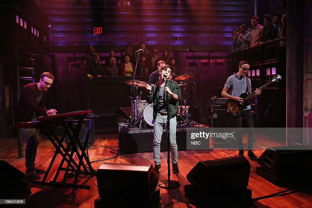 Musical guest Electric Guest performs on November 14, 2012 --