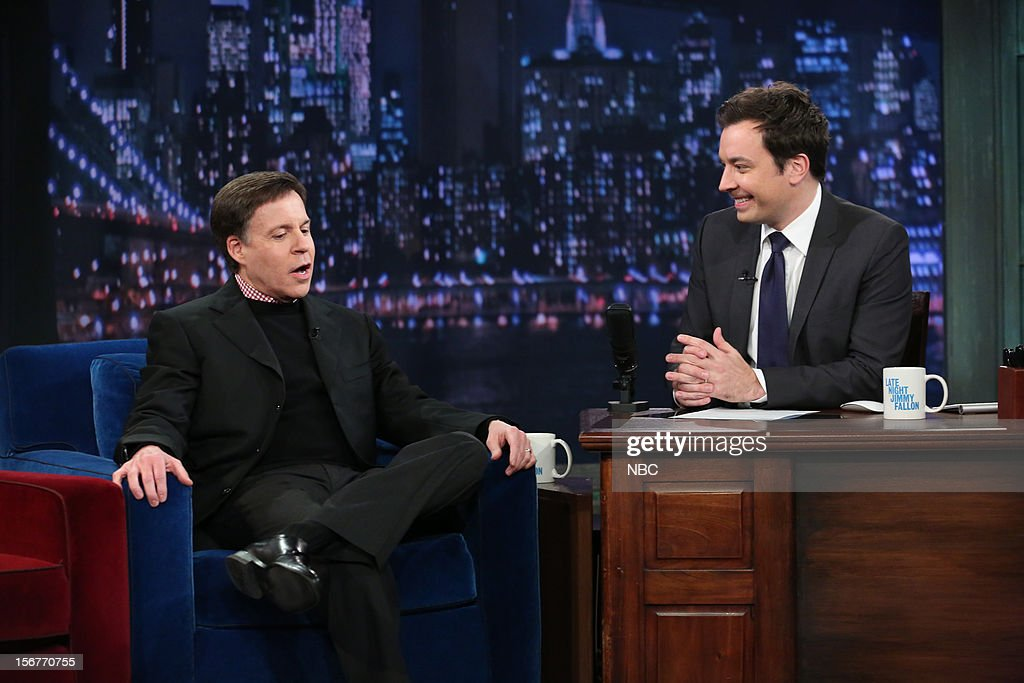 <a gi-track='captionPersonalityLinkClicked' href=/galleries/search?phrase=Bob+Costas&family=editorial&specificpeople=225170 ng-click='$event.stopPropagation()'>Bob Costas</a> during an interview with host <a gi-track='captionPersonalityLinkClicked' href=/galleries/search?phrase=Jimmy+Fallon&family=editorial&specificpeople=171520 ng-click='$event.stopPropagation()'>Jimmy Fallon</a> on November 20, 2012 --