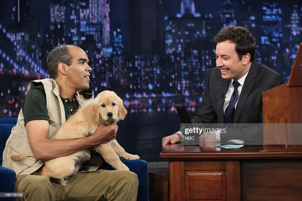 Dion Flynn during a skit with host Jimmy Fallon on November 20, 2012 --