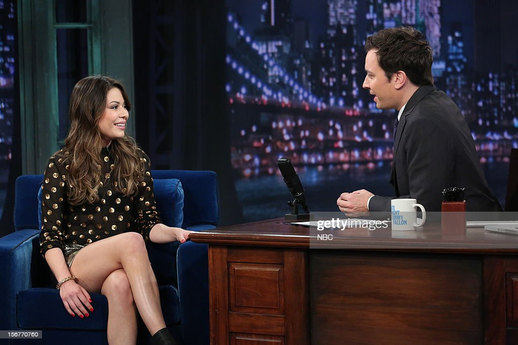 Miranda Cosgrove during an interview with host Jimmy Fallon on November 20, 2012 --