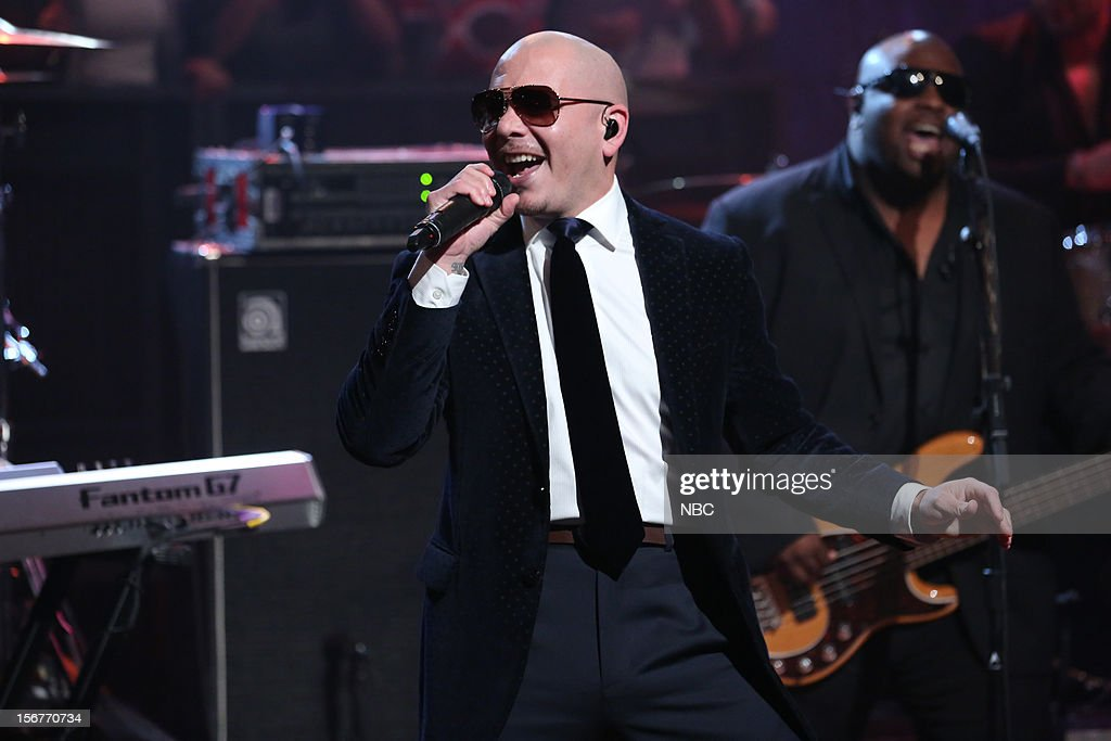 Musical guest Pitbull performs on November 20, 2012 --