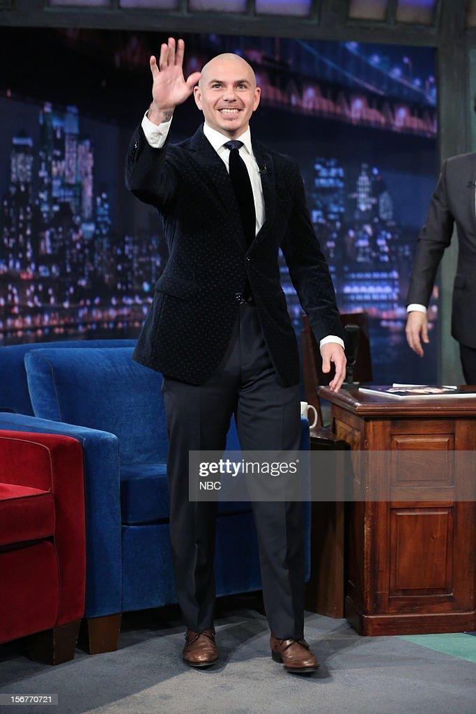 Pitbull arrives on November 20, 2012 --