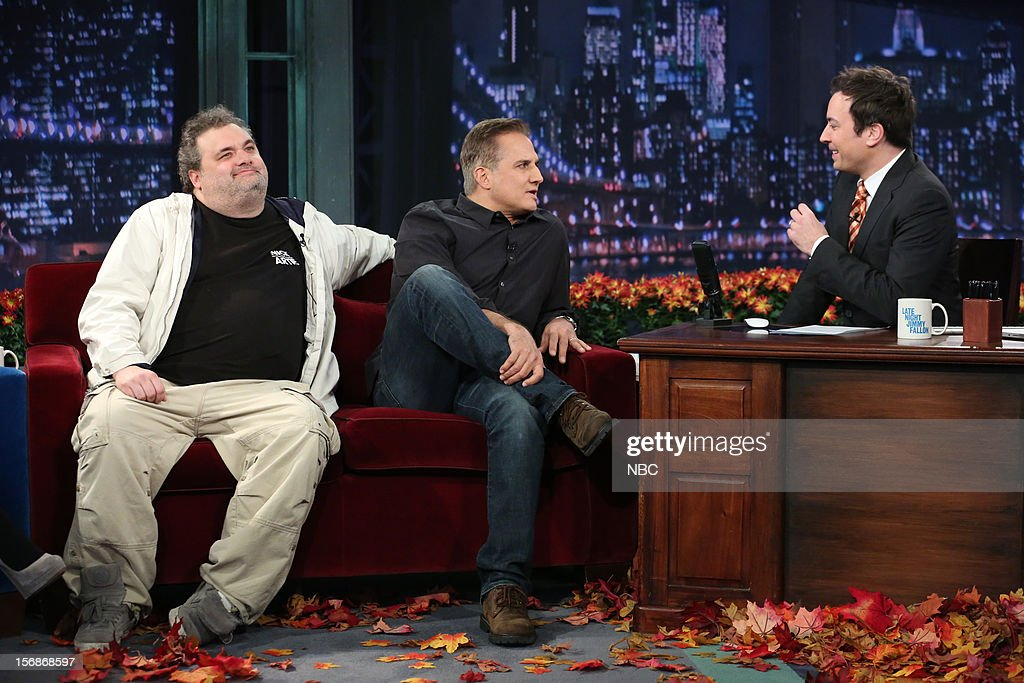 Artie Lange and Nick Dipaolo during an interview with host Jimmy Fallon on November 22, 2012 --