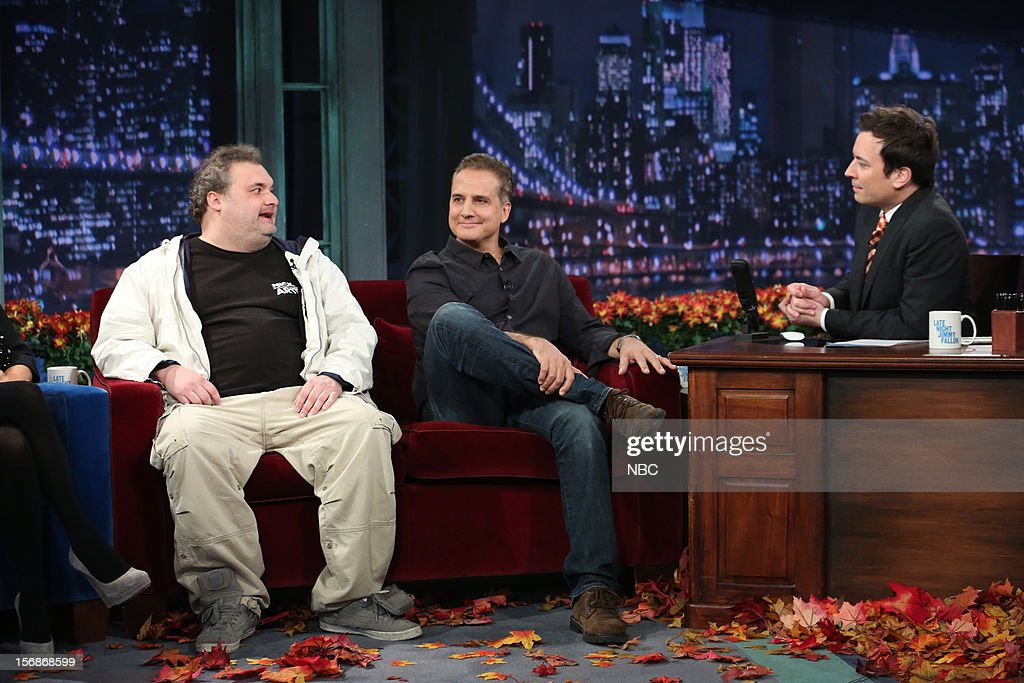 Artie Lange and Nick Dipaolo during an interview with host Jimmy Fallon on November 23, 2012 --