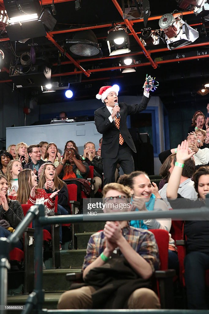 Host Jimmy Fallon during a skit on November 22, 2012 --