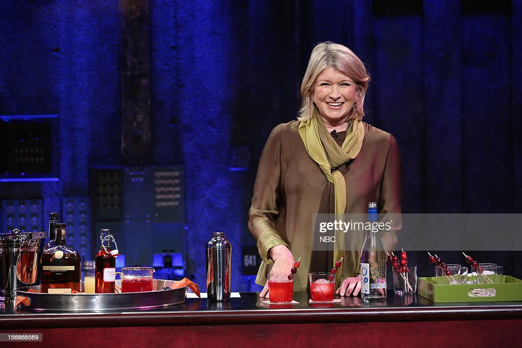 Martha Stewart during a skit on November 22, 2012 --