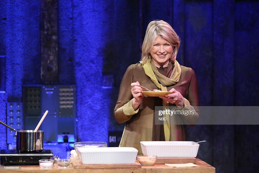 Martha Stewart during a skit on November 22, 2012 --