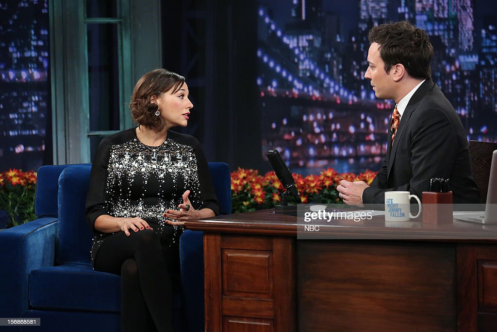 Rashida Jones during an interview with host Jimmy Fallon on November 22, 2012 --