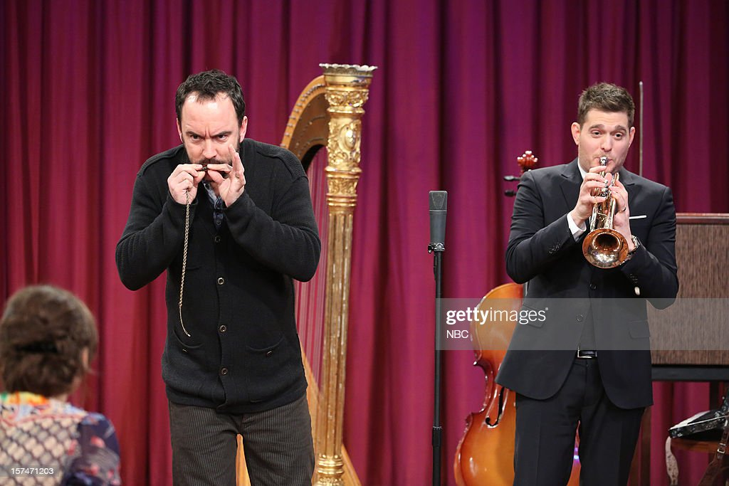 Dave Matthews during a skit with Michael Buble on December 3rd, 2012 --