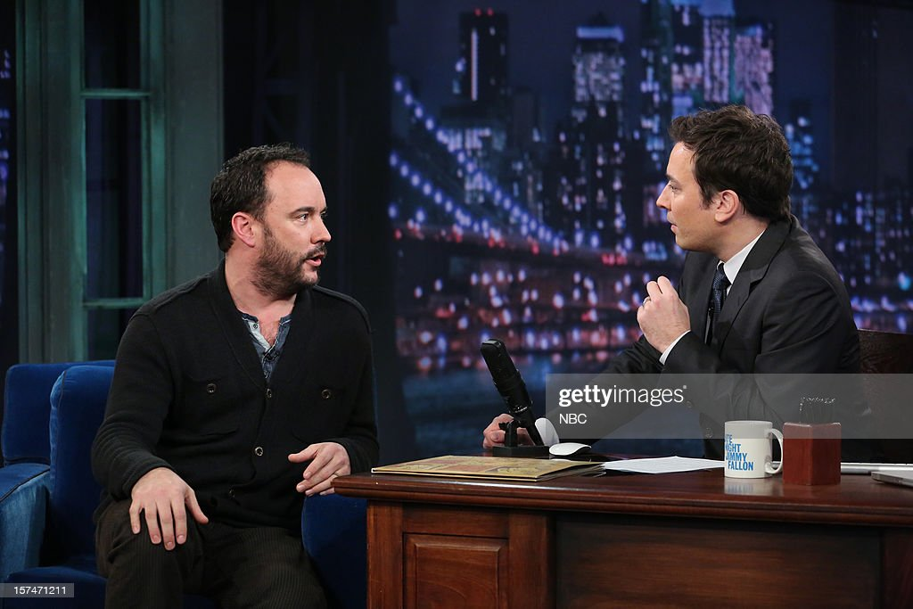 <a gi-track='captionPersonalityLinkClicked' href=/galleries/search?phrase=Dave+Matthews&family=editorial&specificpeople=203324 ng-click='$event.stopPropagation()'>Dave Matthews</a> during an interview with host <a gi-track='captionPersonalityLinkClicked' href=/galleries/search?phrase=Jimmy+Fallon&family=editorial&specificpeople=171520 ng-click='$event.stopPropagation()'>Jimmy Fallon</a> on December 3rd, 2012 --