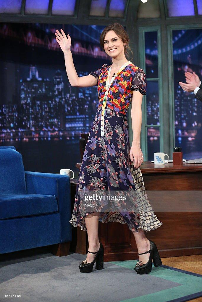 Keira Knightley arrives on December 3rd, 2012 --