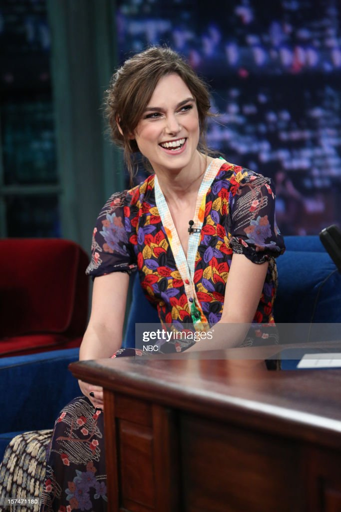 Keira Knightley during an interview on December 3rd, 2012 --