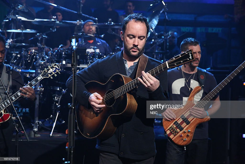 Musical guest <a gi-track='captionPersonalityLinkClicked' href=/galleries/search?phrase=Dave+Matthews&family=editorial&specificpeople=203324 ng-click='$event.stopPropagation()'>Dave Matthews</a> Band performs on December 3rd, 2012 --