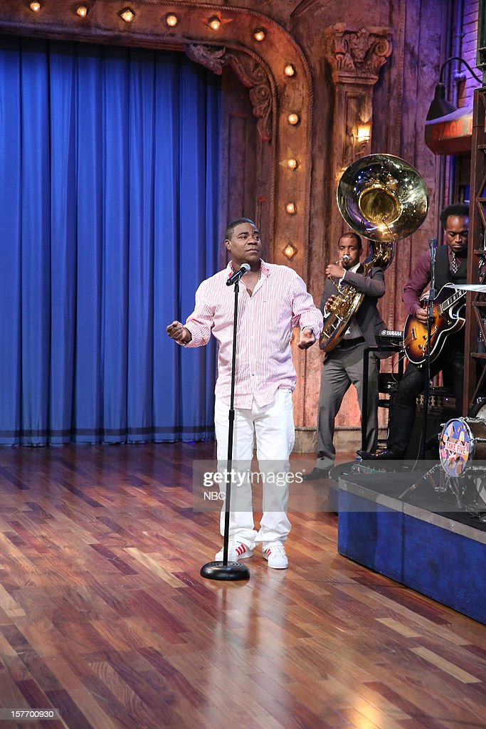 <a gi-track='captionPersonalityLinkClicked' href=/galleries/search?phrase=Tracy+Morgan&family=editorial&specificpeople=182428 ng-click='$event.stopPropagation()'>Tracy Morgan</a> during a skit with the Roots on December 5, 2012 --