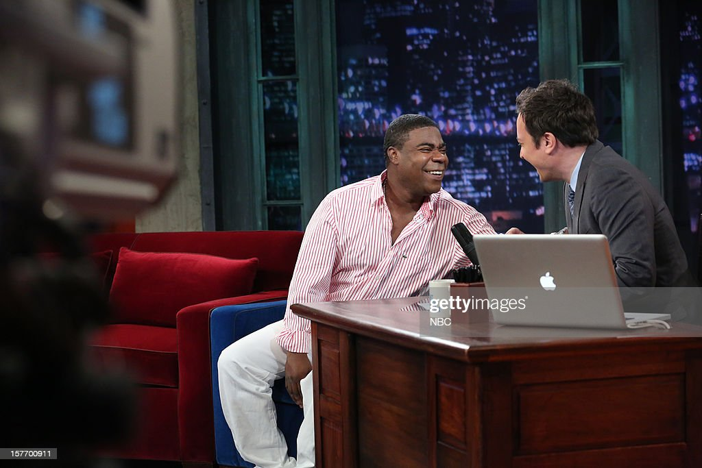 Tracy Morgan during an interview with host Jimmy Fallon on December 5, 2012 --