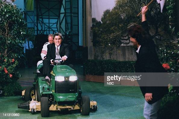 LENO Episode 745 Air Date Pictured Host Jay Leno during a skit on August 7 1995 Photo by NBCU Photo Bank