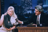 LENO Episode 745 Air Date Pictured Zoologist Joan Embery during an interview with host Jay Leno on August 7 1995 Photo by NBCU Photo Bank
