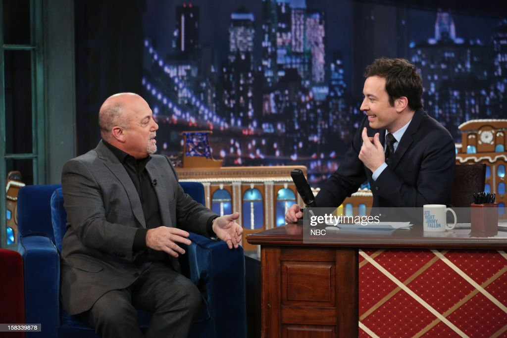 Billy Joel during an interview with host Jimmy Fallon on December 13, 2012 --