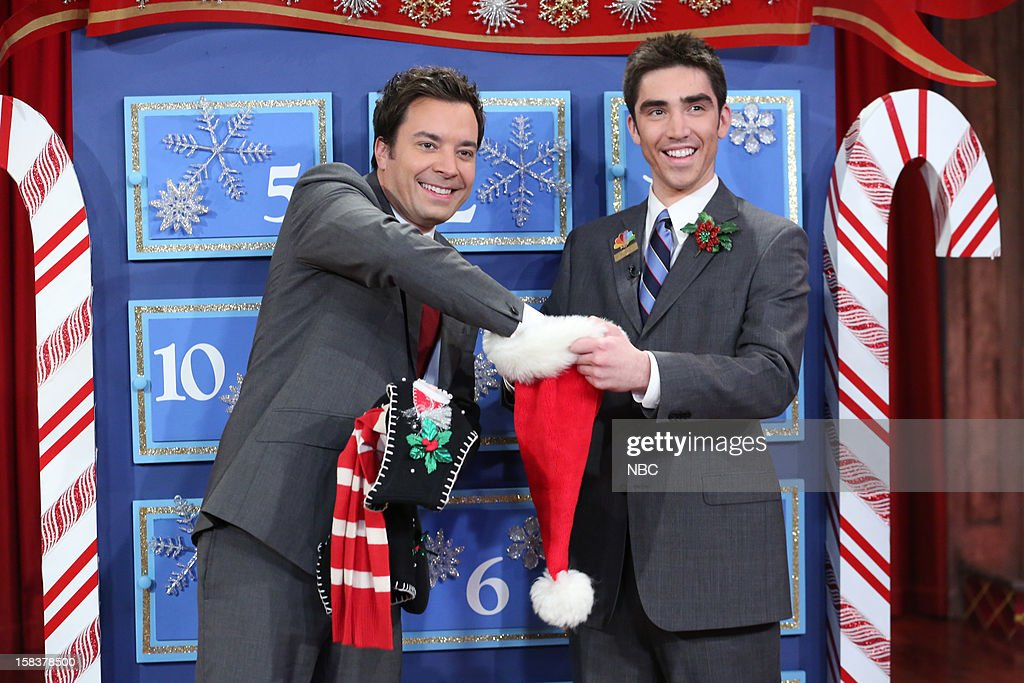 Host Jimmy Fallon during a skit on December 14, 2012 --