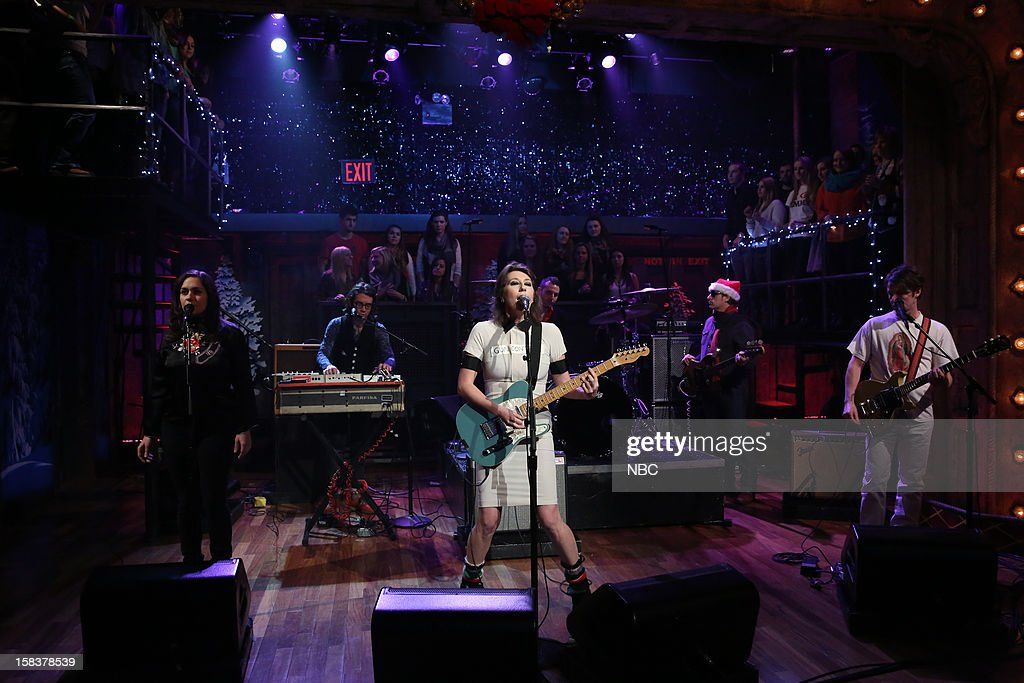 Musical guest <a gi-track='captionPersonalityLinkClicked' href=/galleries/search?phrase=Martha+Wainwright&family=editorial&specificpeople=539878 ng-click='$event.stopPropagation()'>Martha Wainwright</a> performs on December 14, 2012 --