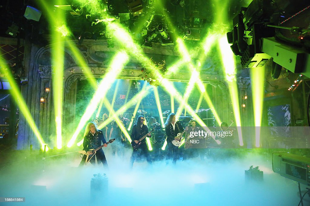 Musical guest Trans-Siberian Orchestra performs on December 18, 2012 --