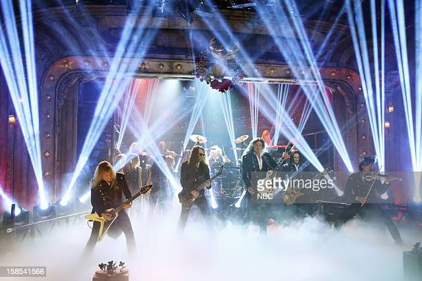 Musical guest TransSiberian Orchestra performs on December 18 2012