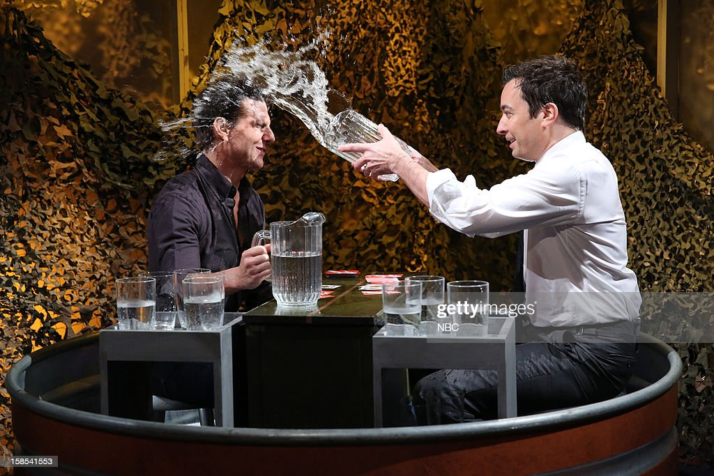 Tom Cruise during a skit with host Jimmy Fallon on December 18, 2012 --
