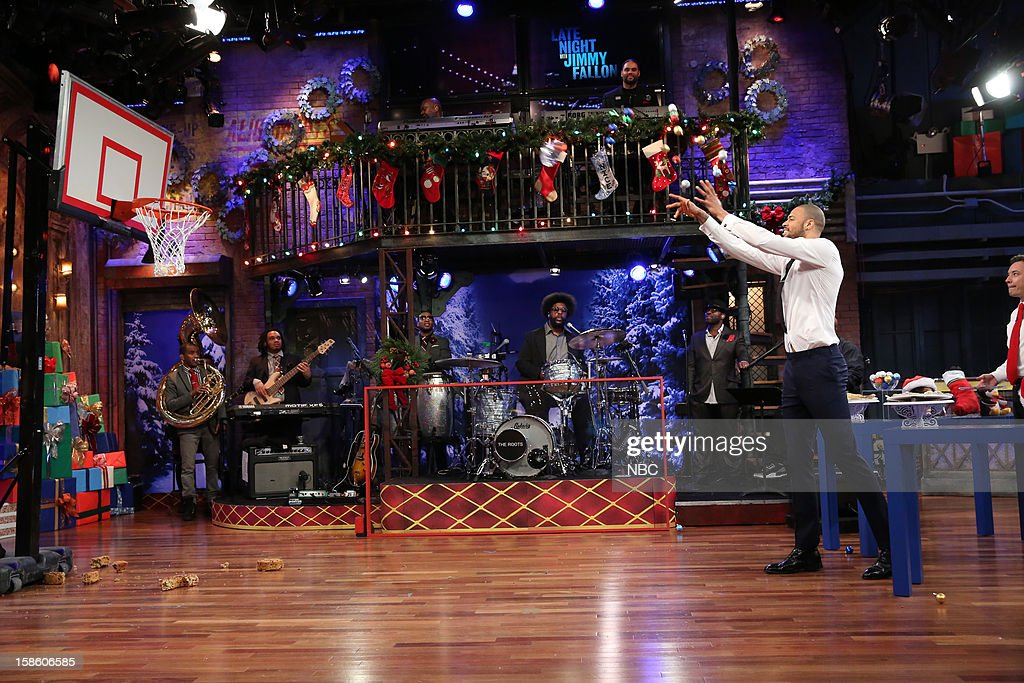 The Roots during a skit with Tyson Chandler on December 20, 2012 --
