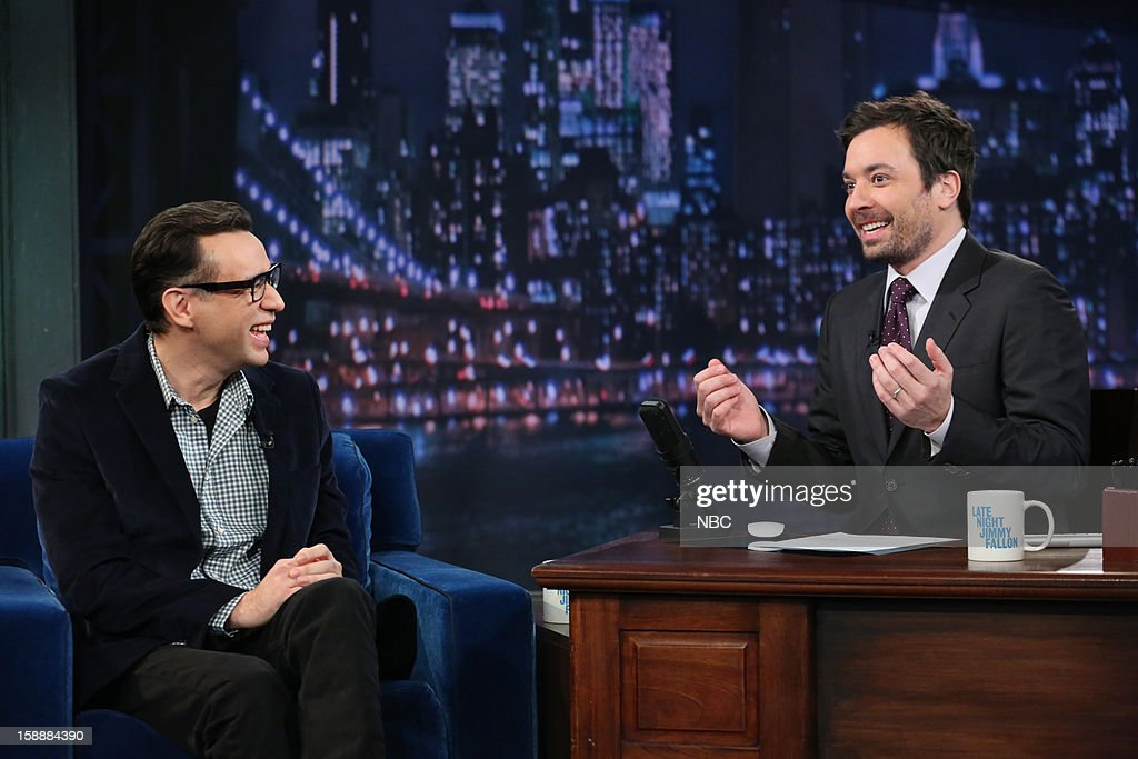 Fred Armisen during an interview with host Jimmy Fallon on January 2, 2013 --
