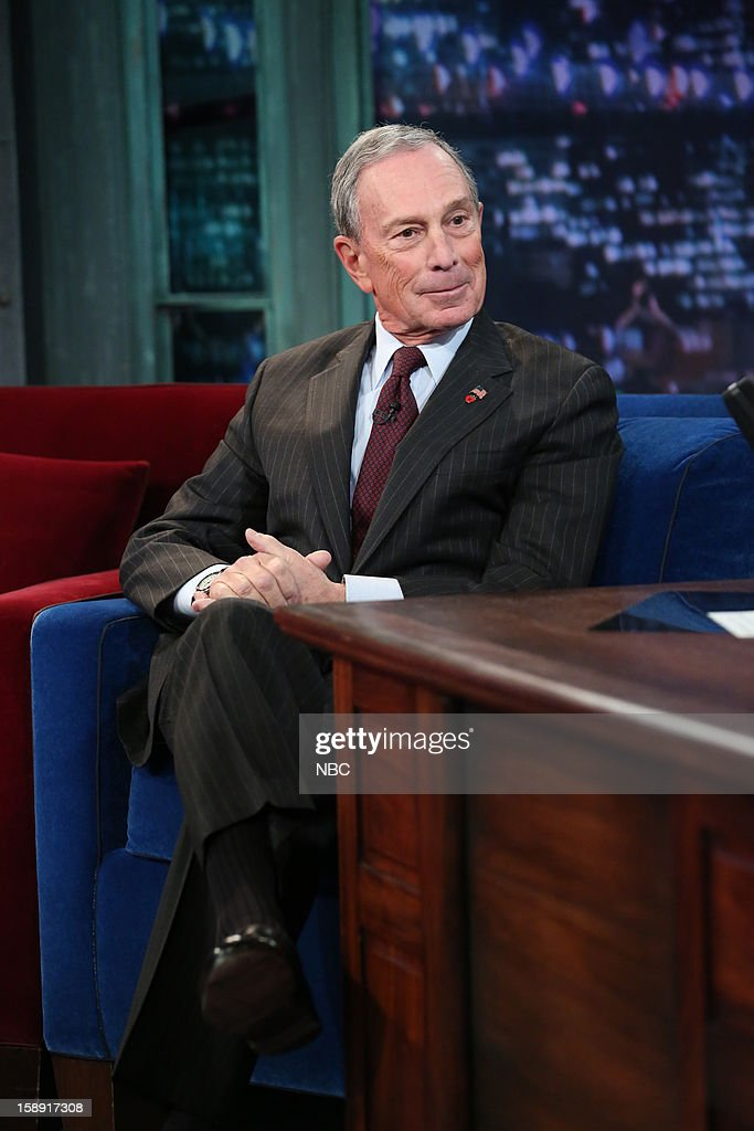 Mayor <a gi-track='captionPersonalityLinkClicked' href=/galleries/search?phrase=Michael+Bloomberg&family=editorial&specificpeople=171685 ng-click='$event.stopPropagation()'>Michael Bloomberg</a> during an interview on January 3, 2013 --