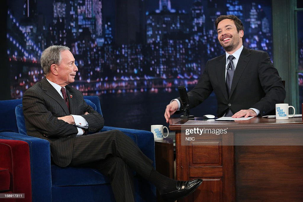 Mayor Michael Bloomberg during an interview with host Jimmy Fallon on January 3, 2013 --