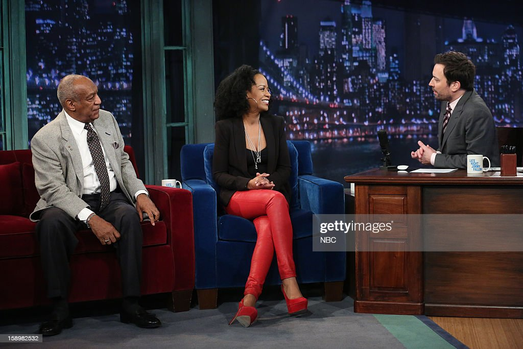 Bill Cosby and Tempestt Bledsoe during an interview on January 4, 2013 --