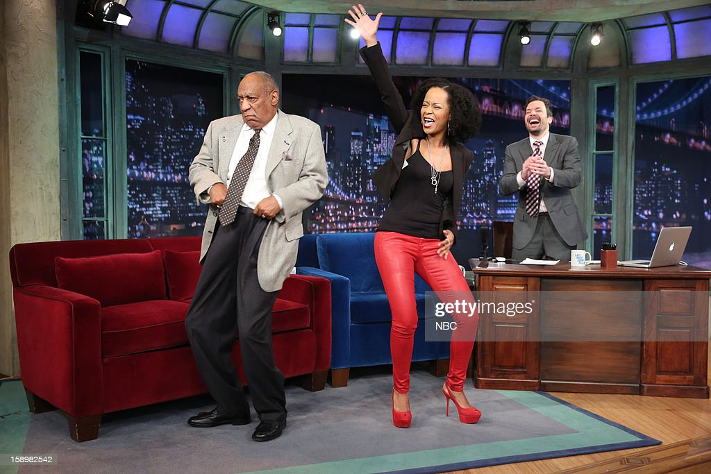 Bill Cosby and Tempestt Bledsoe during an interview with host Jimmy Fallon on January 4, 2013 --