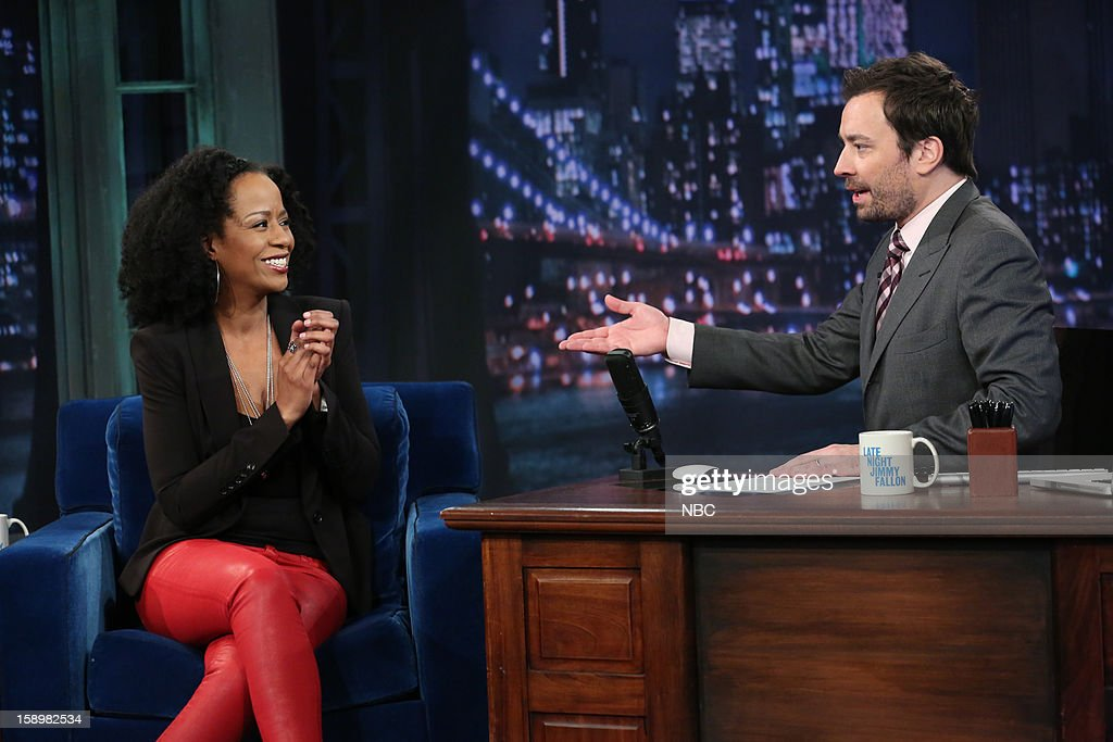 Tempestt Bledsoe during an interview with host Jimmy Fallon on January 4, 2013 --