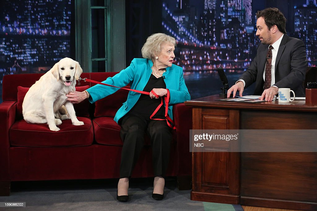 Betty White during an interview with host Jimmy Fallon on January 7, 2013 --