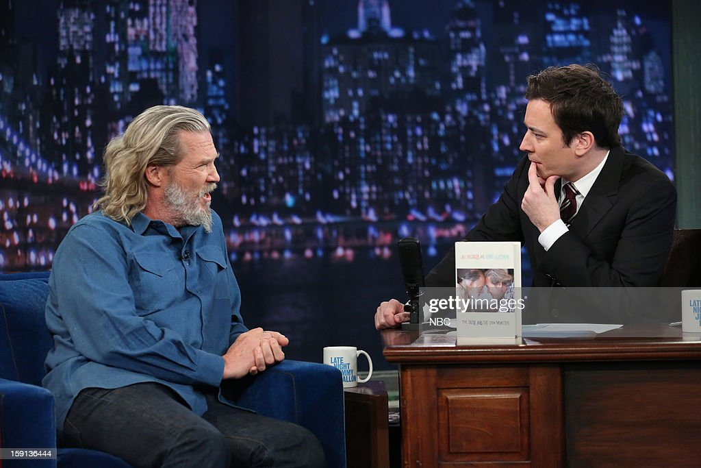 Jeff Bridges during an interview with host Jimmy Fallon on January 8, 2013 --