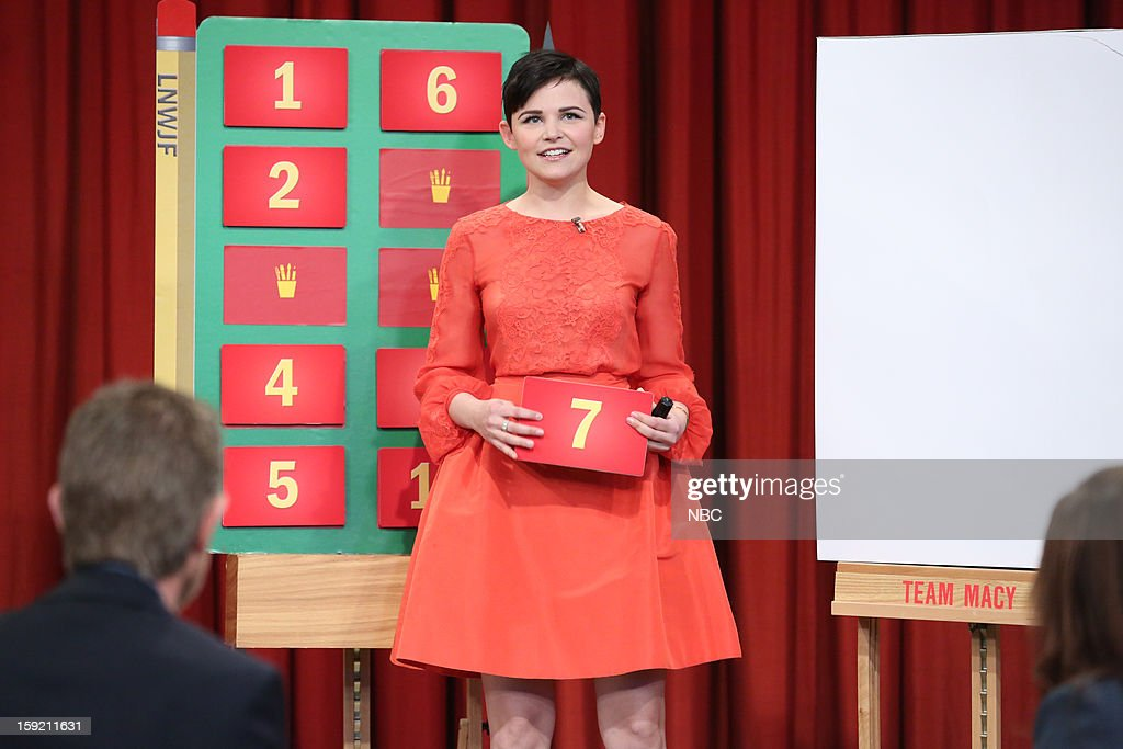 Ginnifer Goodwin during a skit on January 9, 2013 --
