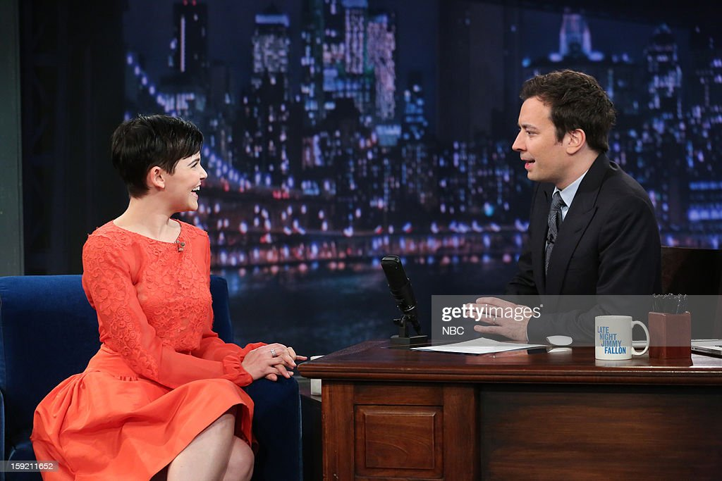 Ginnifer Goodwin during an interview with host Jimmy Fallon on January 9, 2013 --