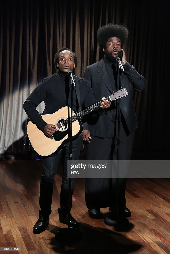 Kirk Douglas and Questlove during a skit on January 9, 2013 --