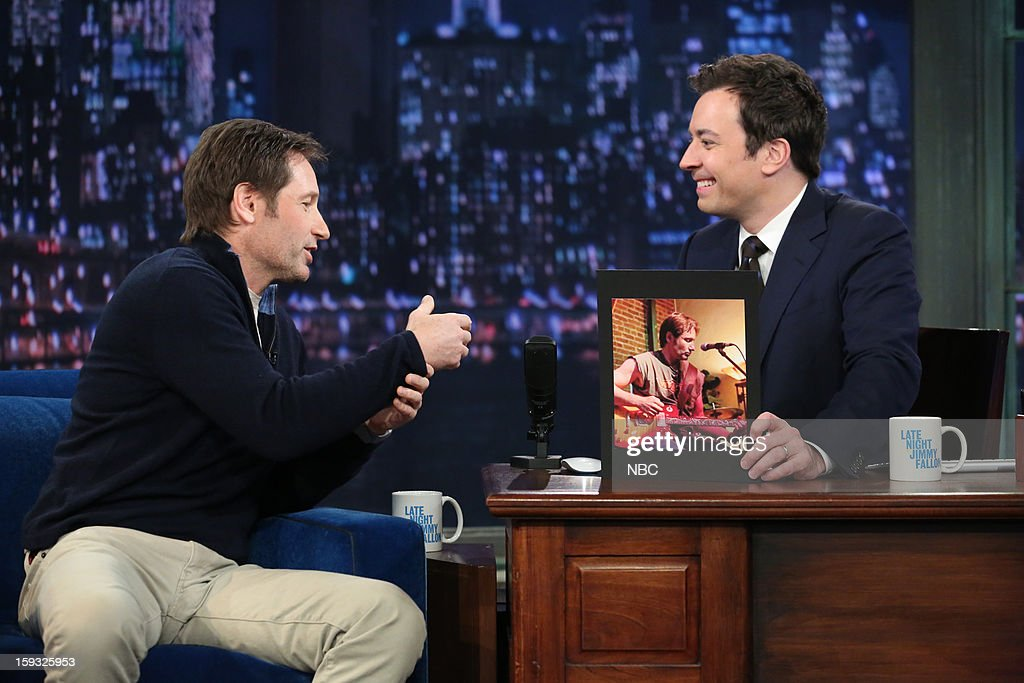 David Duchovny during an interview with host Jimmy Fallon on January 11, 2013 --