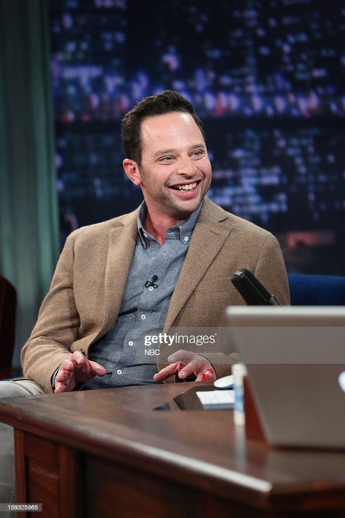 <a gi-track='captionPersonalityLinkClicked' href=/galleries/search?phrase=Nick+Kroll&family=editorial&specificpeople=4432339 ng-click='$event.stopPropagation()'>Nick Kroll</a> during an interview on January 11, 2013 --