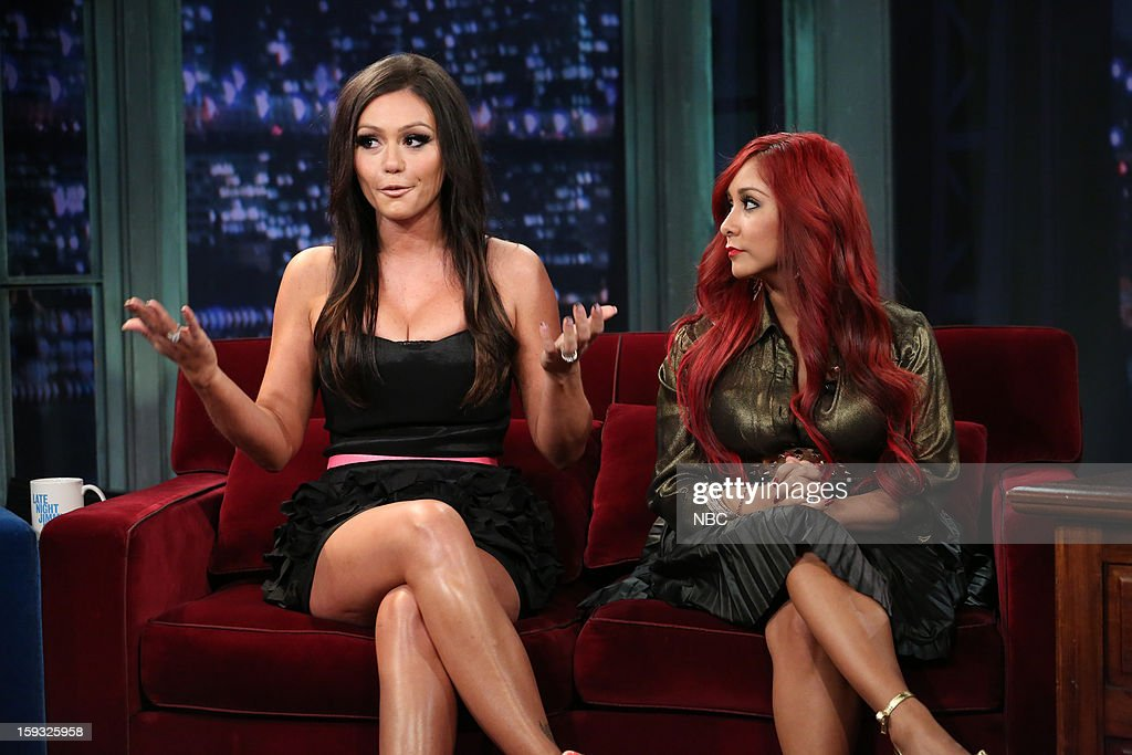 Snooki, JWoww during an interview with host Jimmy Fallon on January 11, 2013 --