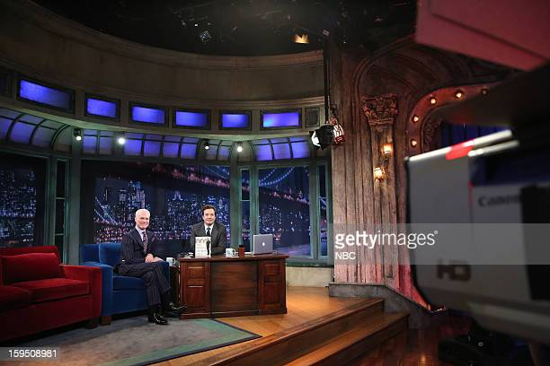 Tim Gunn during an interview with host Jimmy Fallon on January 14 2013